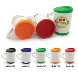 Mug with Silicone Cap and Base