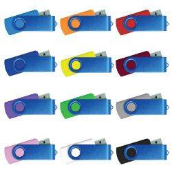 USB Flash Drives with Blue Swivel 4GB