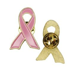 Breast Cancer Awareness Pink Ribbon Badge