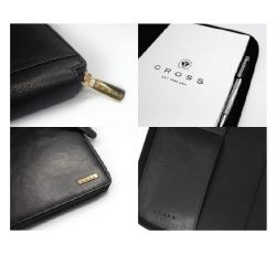 CROSS Leather Zipper Padfolio