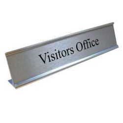 L Shape Office Sign Desk Name Plate Signage DSH-11