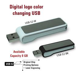USB Flash Drives Digital logo color changing 8GB