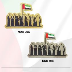 National Day Badges with round magnet