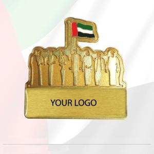 UAE National Day Golden metal Badge