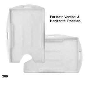 Semi-Flexible PVC Card Holder