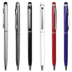 Slim Metal Pens with Stylus