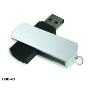 Matte Silver Swivel USB Flash Drives