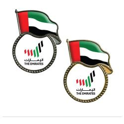 UAE Flag Metal Badges