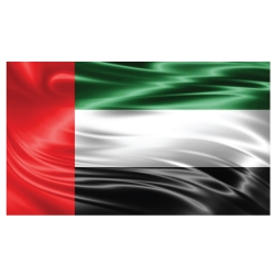 UAE Flag Satin Material
