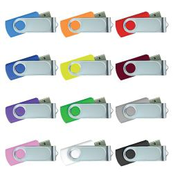 USB Flash Drives Swivel with 1 Side Epoxy Logo 4GB
