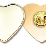 Heart Shape Metal Badges