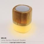 Promotional Lamp Bamboo Bluetooth Speaker