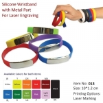 Silicon Wristband With Metal