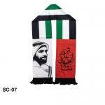 UAE Flag Scarf with Sheikh Zayed Photo