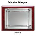 Wooden Plaques Silver Laserable Plate 1243