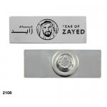 Year of Zayed Rectangular Metal Badges
