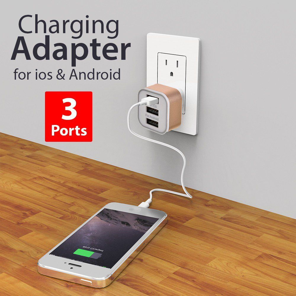 3 Ports USB Charge Adapter For IOS Android