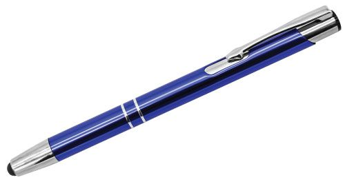 Aluminum Pens with Stylus Blue