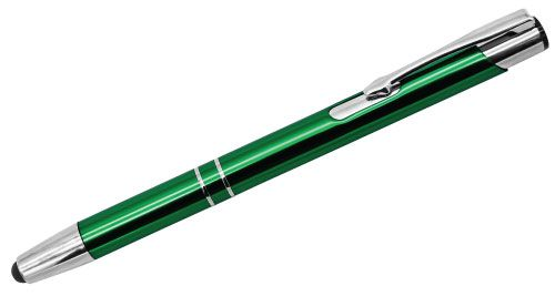 Aluminum Pens with Stylus Green