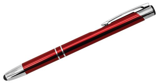 Aluminum Pens with Stylus Red