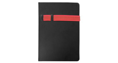 Black A5 Size Notebooks Red