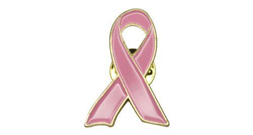 Breast Cancer Awareness Pink Ribbon Badge