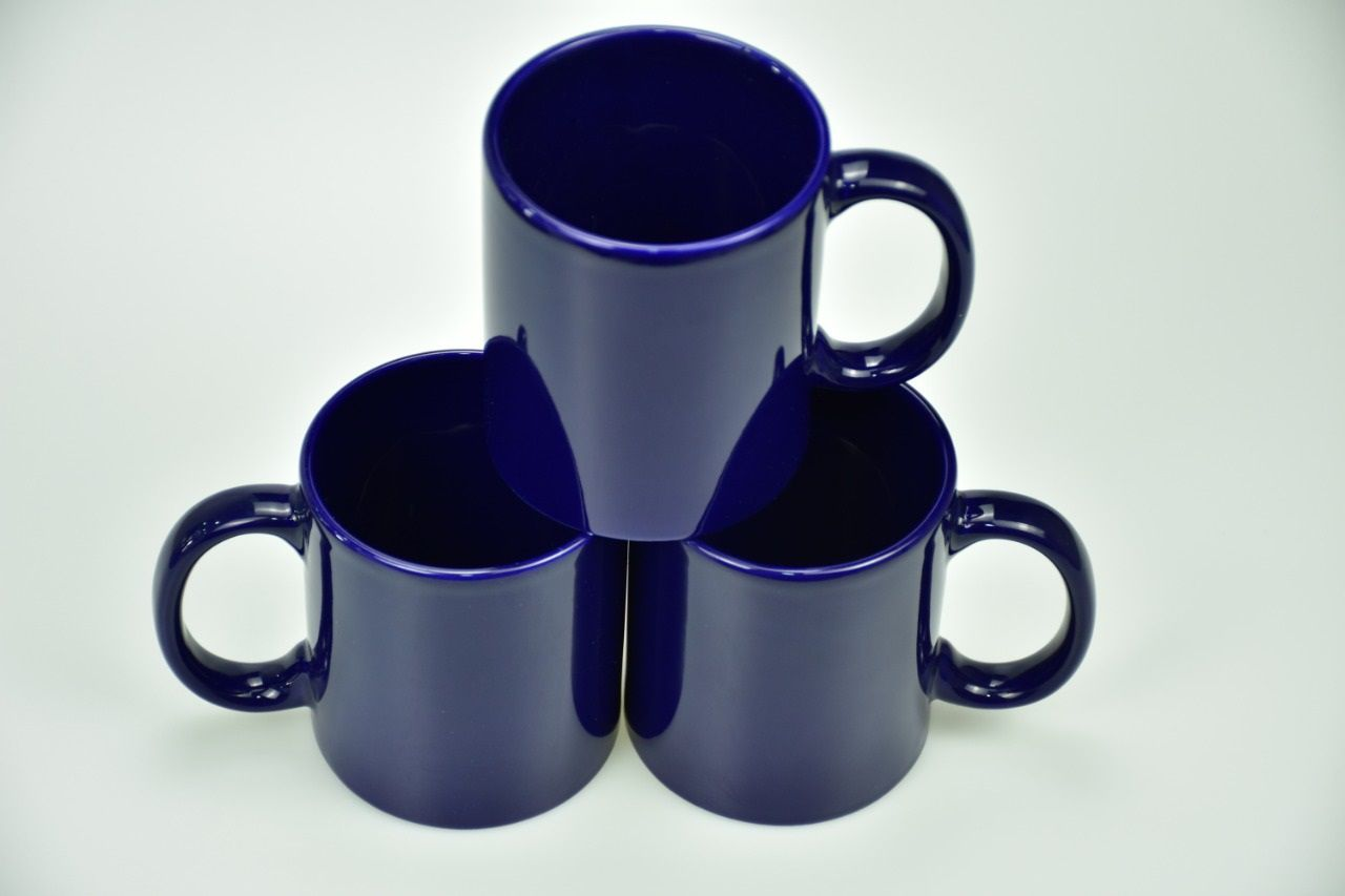 Colored Mugs Dark Blue