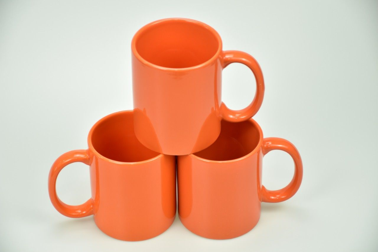 Colored Mugs Orange