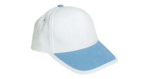 Cotton Caps White and Light Blue Color