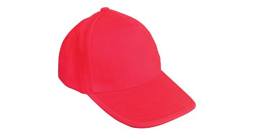 Cotton Caps Solid Red Color