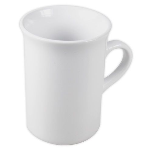Curve Edge Mug White 10 oz