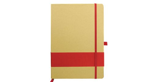 Eco Friendly Notebook with Strip Red