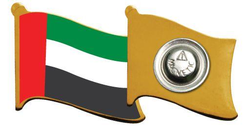 Flag Metal Badges with Back Magnet