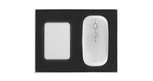 Wireless Mouse Gift Set White