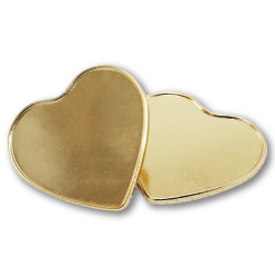 Heart Shape Metal Badges with Pin