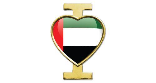 I Love UAE Badge - Gold