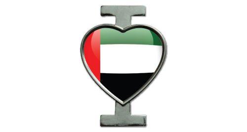 I Love UAE Badge - Silver