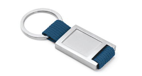 Metal Keychain Blue Color