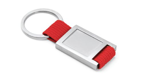 Metal Keychain Red Color