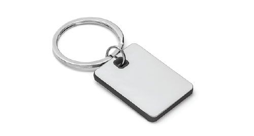 Metal Keychains Square Black