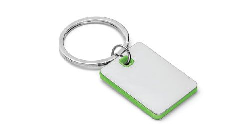 Metal Keychains Square Green