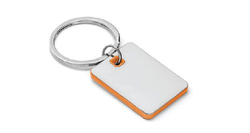 Metal Keychains Square Orange