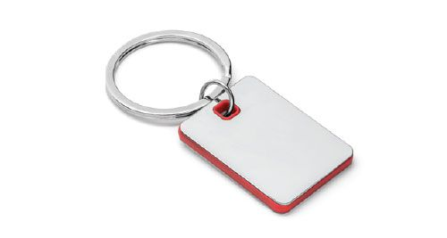 Metal Keychains Square Red