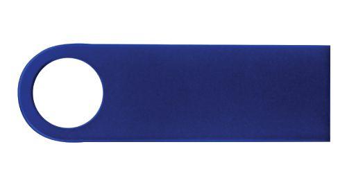 Blue Metal USB Flash Drive 4 GB