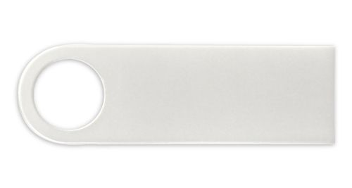 White Metal USB Flash Drive 16 GB