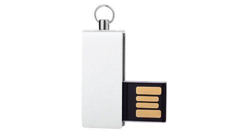 Mini USB Flash with White swivel 4GB