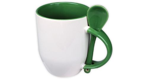 Mug with Spoon Green - 170-GR