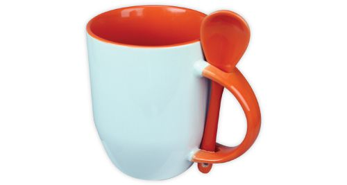 Mug with Spoon Orange - 170-OR