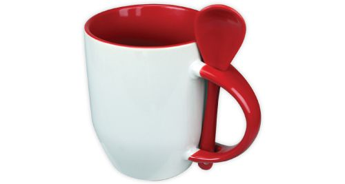 Mug with Spoon Red - 170-R