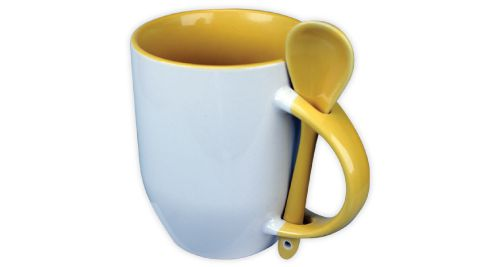 Mug with Spoon Yellow - 170-Y